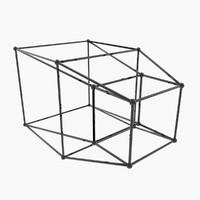 hypercube tesseract 3d model