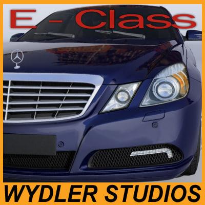 3d mercedes e-class model