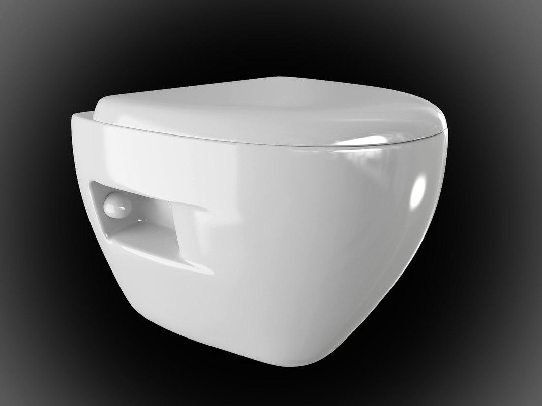 jianxia 2262b hanging toilet interior 3d max