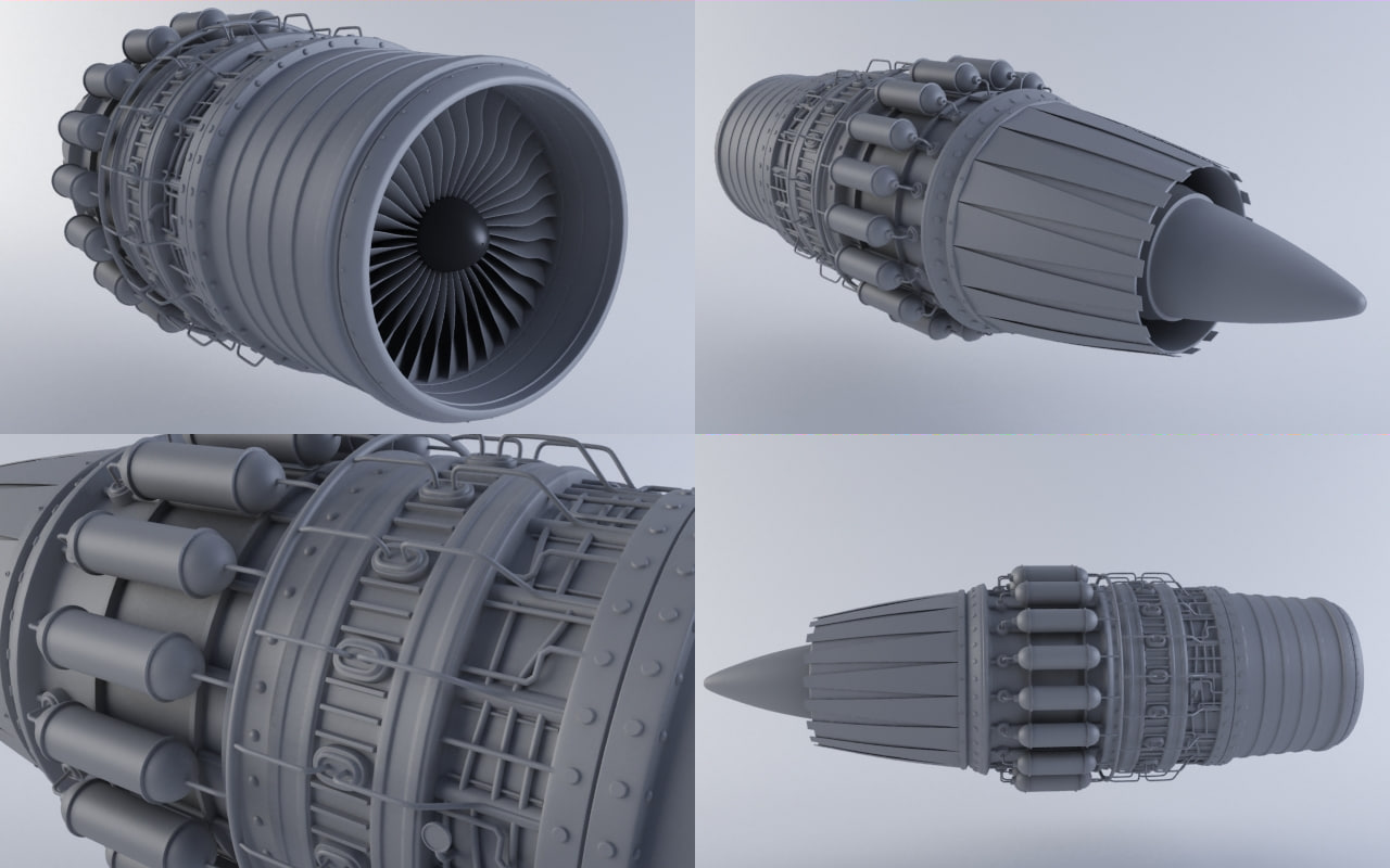 jet engine mkviib 3d model