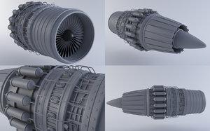 jet engine mkviib 3d model