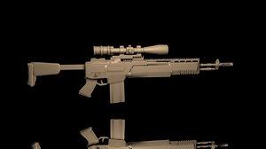 cinema4d sniper rifle