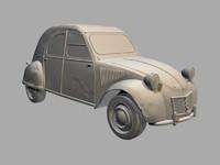 3d citroen 2cv car model