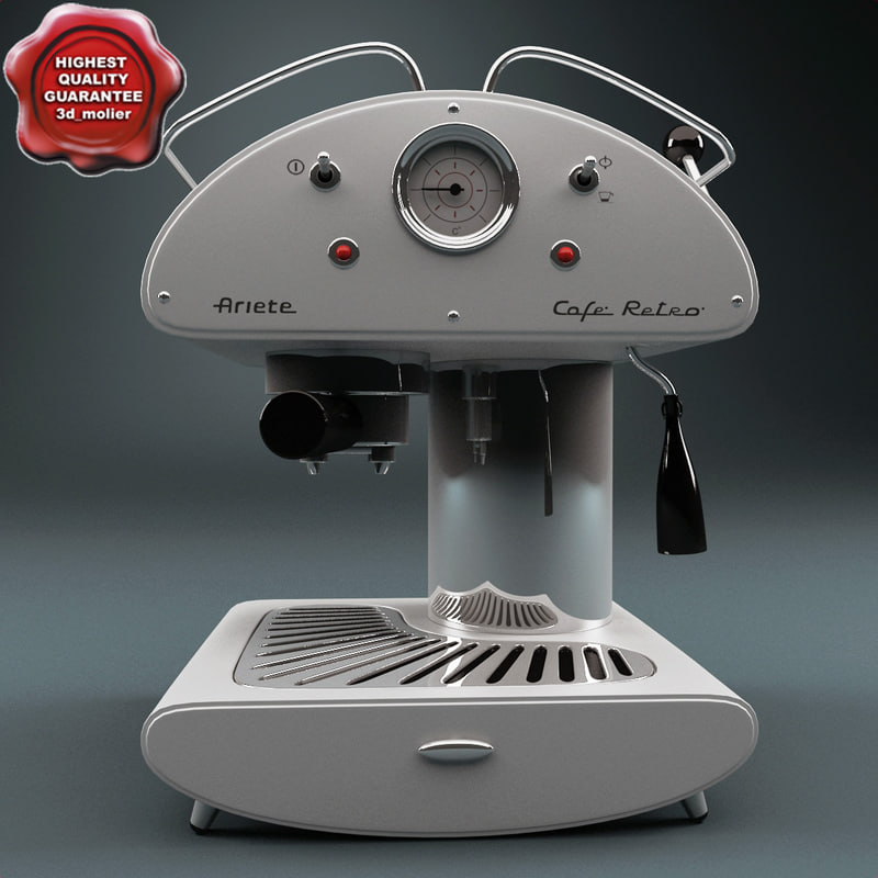 retro coffee maker ariete 3d model