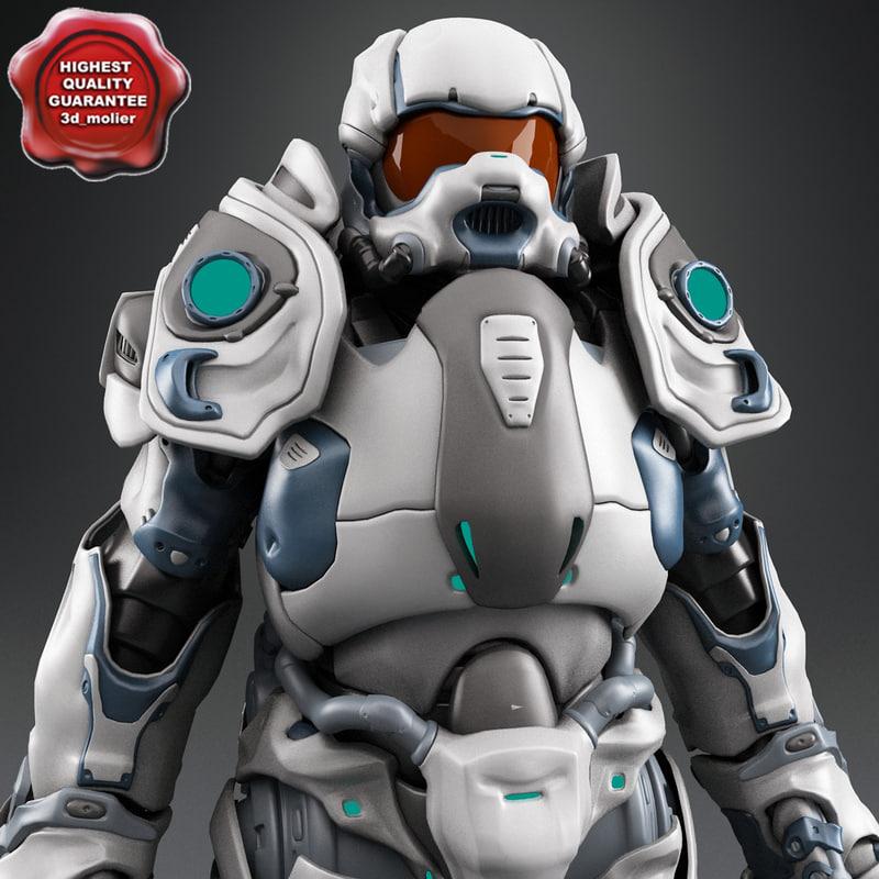 3d robot v3 model