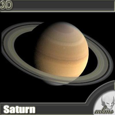 3d max realistic saturn