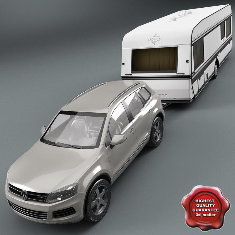 volkswagen touareg 2011 caravan 3d 3ds