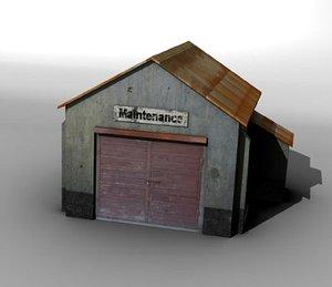 3d airfield maintenance building model