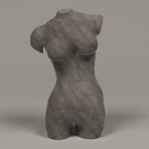 statue female torso obj