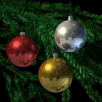 christmas tree balls 3d x