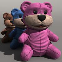 3d toy bear