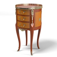 classic round side table chest antique