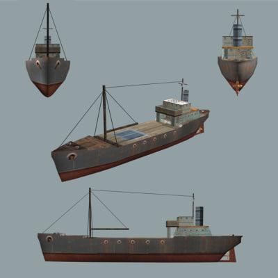 cargo vessel 3d 3ds