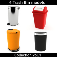 3d contains trash bin 1