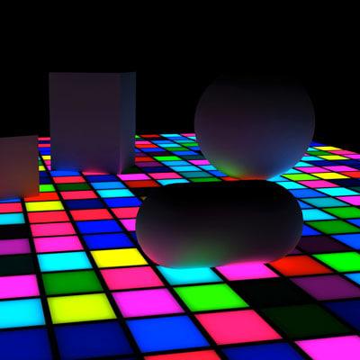 3d lwo disco dance floor