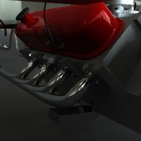 engine details 3d obj