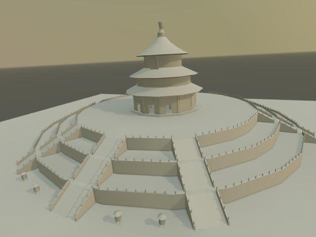 temple heaven 3d model