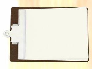 3d model office clipboard