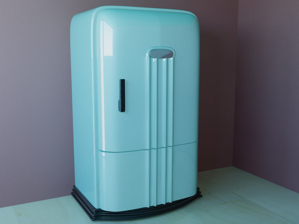 3d retro refrigerator