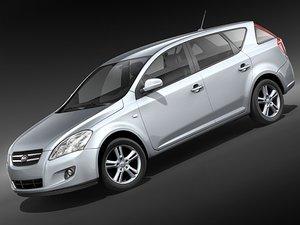 kia ceed 2008 car 3d 3ds