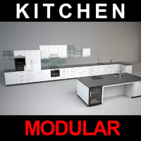 modular kitchen 3d model