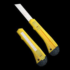 3d simple knife model