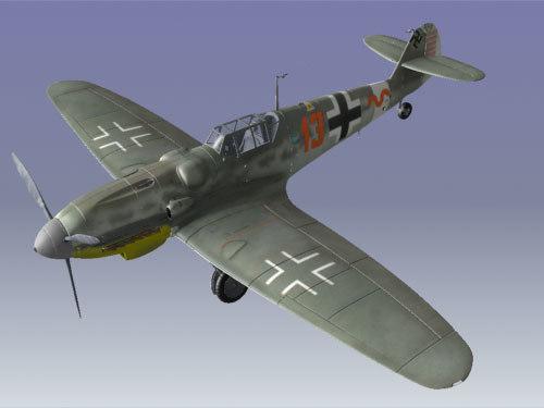 3d model messerschmitt bf109 plane airplane