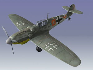3d model messerschmitt bf109 plane airplane