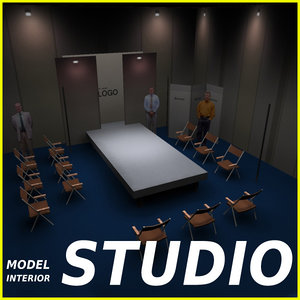 studio scene 3d max