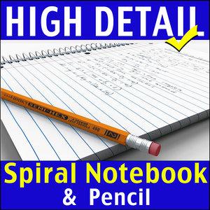 3d model spiral notebook