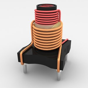 electronic coil 3d model