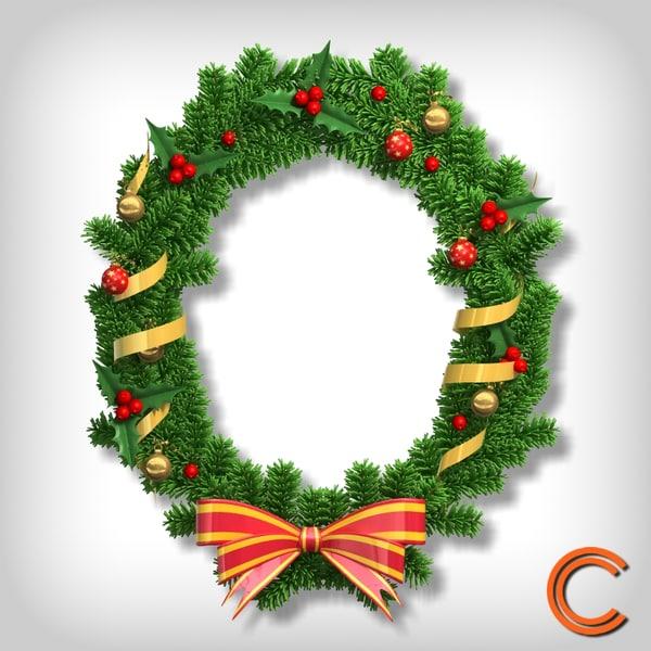 3ds christmas wreath