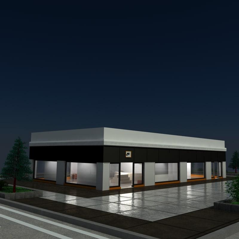 3d shop stand model