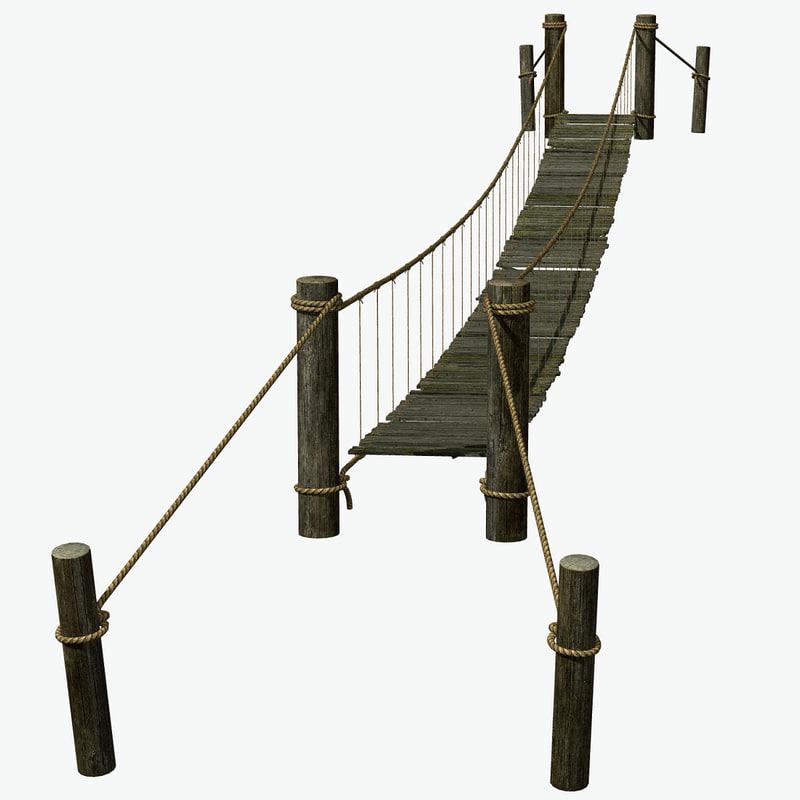 3d rope bridge model
