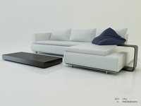 Contemporary modular sofa