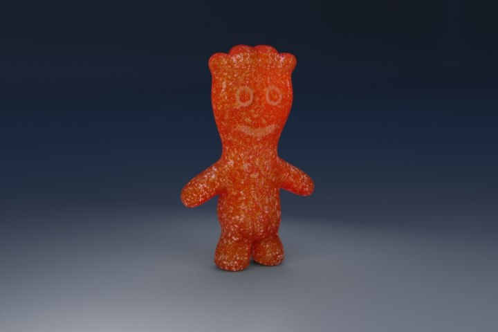 sourpatch candy 3d model