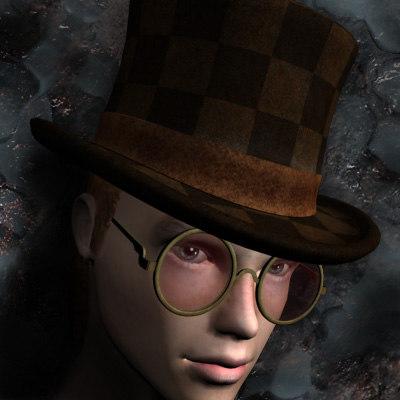 3d model shallow hat