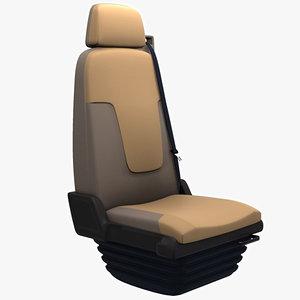 truck seat 3d model