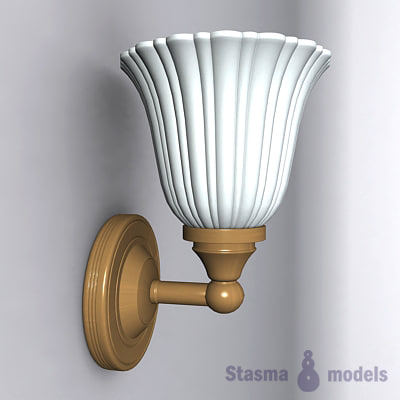 3d model of wall lamp lights