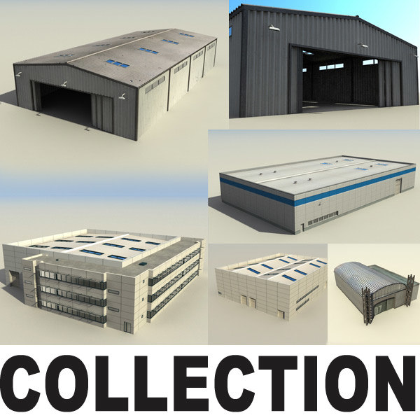 hangars warehouses 3d model
