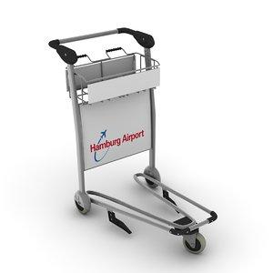3d model airport handcart