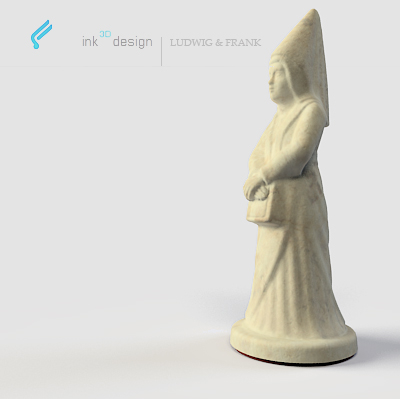 3d chess figures queen model