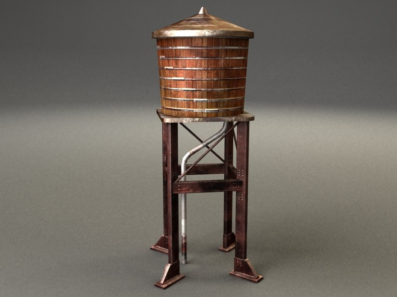water tower - 3d model