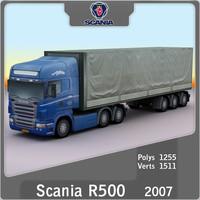 3d scania r500