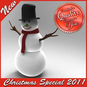 3d christmas snowman special model