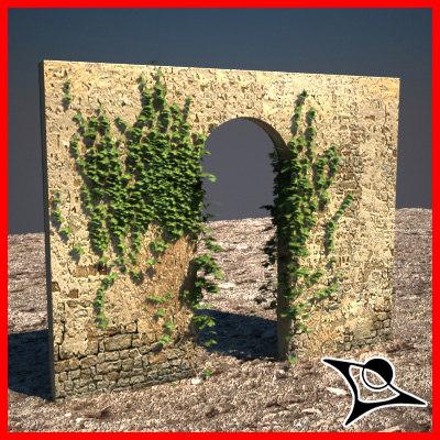 wall ivy 3d model