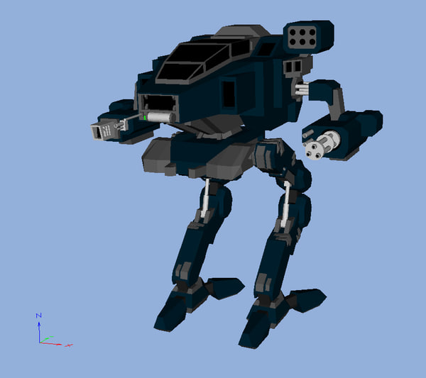 3d bipedal tank