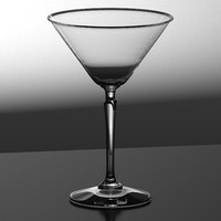 martini glass 3d max
