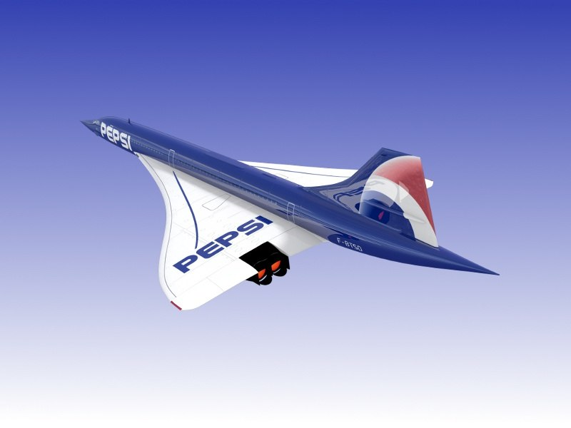 3ds concorde airliner