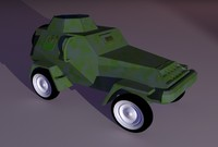 toy armor car 3d lwo